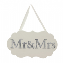 MDF Plaque With Crystal Mr And Mrs
